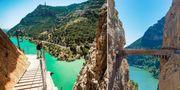 Så här ser Caminito del Rey ut idag, efter renoveringen. Youtube/Shutterstock