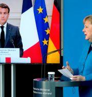 Macron och Merkel Michael Sohn / TT NYHETSBYRÅN