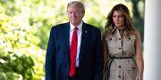 Arkivbild. Donald Trump och frun Melania.  Alex Brandon / TT NYHETSBYRÅN