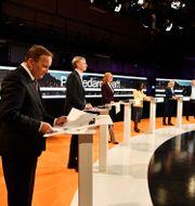 Partiledarna uppradade under en debatt i Agenda. Jessica Gow / TT NYHETSBYRÅN