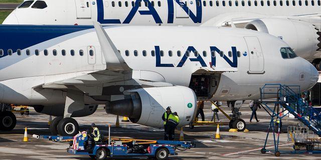 Latam Airlines bildades efter en fusion mellan bolagen Lan och Tam. Esteban Felix / TT NYHETSBYRÅN