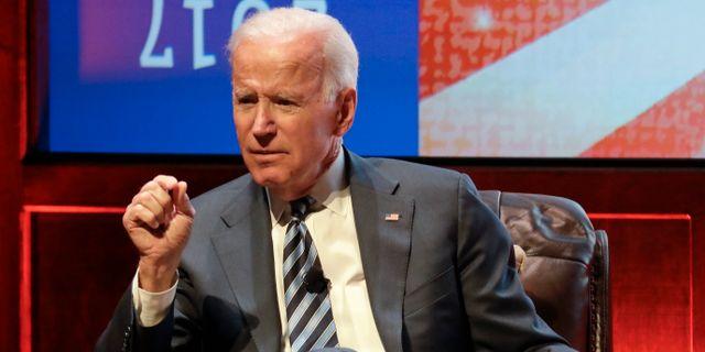Joe Biden vid ett framträdande i Nashville, tidigare i april. Mark Humphrey / TT NYHETSBYRÅN