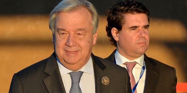 FN:s generalsekreterare António Guterres   STRINGER / TT NYHETSBYRÅN