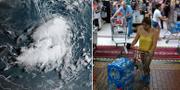 Satellitbilder på stormen Dorian/Invånare i Puerto Rico som bunkrar mat. TT