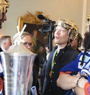 Växjö firar SM-guldet. Mikael Fritzon/TT / TT NYHETSBYRÅN