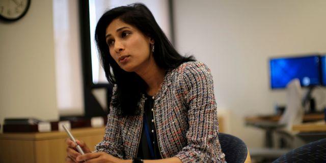 IMF:s chefsekonom Gita Gopinath JAMES LAWLER DUGGAN / TT NYHETSBYRÅN