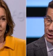 Isabella Lövin (MP) / Ulf Kristersson (M). Agenda