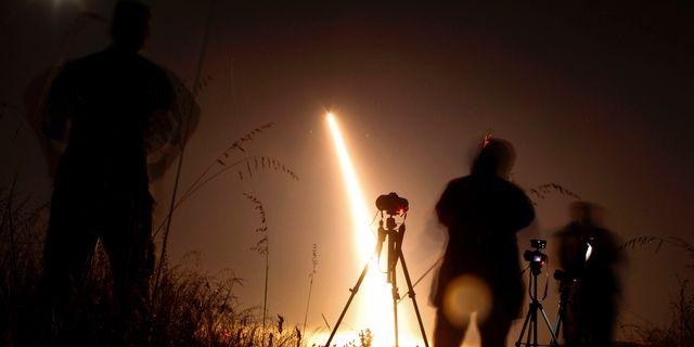 USA genomförde tidigare i maj en testskjutning av en interkontinental ballistisk robot från Vandenbergbasen i Kalifornien. RINGO CHIU / AFP