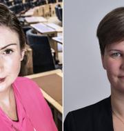 Birgitta Ohlsson och Hanna Gunnarsson.  TT