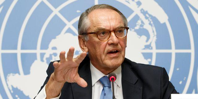 Jan Eliasson under sid tid i FN. Salvatore Di Nolfi / TT NYHETSBYRÅN