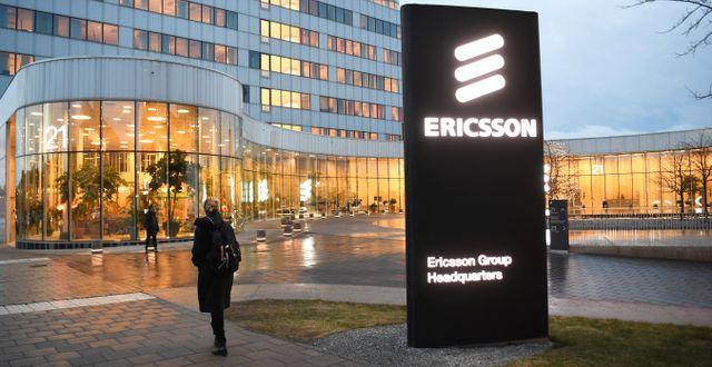 Ericssons huvudkontor i Kista. Fredrik Sandberg/TT / TT NYHETSBYRÅN