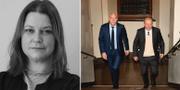 T.v: Sabina Böö företräder två av de tre kvinnorna. T.h: Eskil Erlandsson och försvarsadvokat Johan Eriksson Block advokater / TT