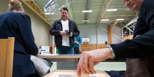 Arkivbild. Vallokal.  Johan Nilsson/TT / TT NYHETSBYRÅN