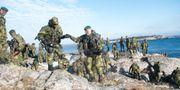 Soldater ur 203:e Amfibieskyttekompaniet övar med sina stridsbåtar i Stockholms skärgård 2016. Fredrik Sandberg/TT / TT NYHETSBYRÅN