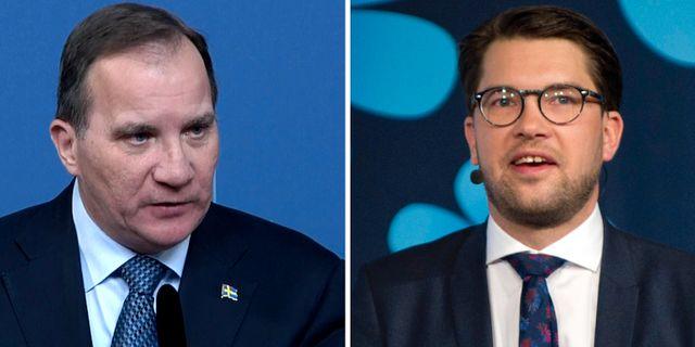 Stefan Löfven och Jimmie Åkesson. TT
