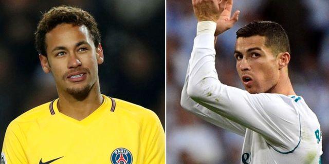 Neymar och Cristiano Ronaldo. TT