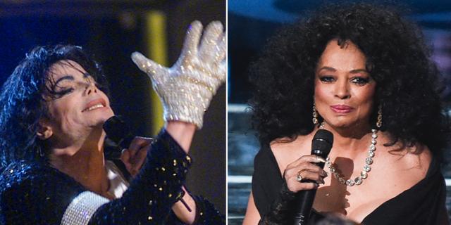 Michael Jackson och Diana Ross.  TT
