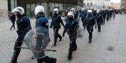 200 kravallpoliser kallades till Molenbeek på lördagen. YVES HERMAN / TT NYHETSBYRÅN