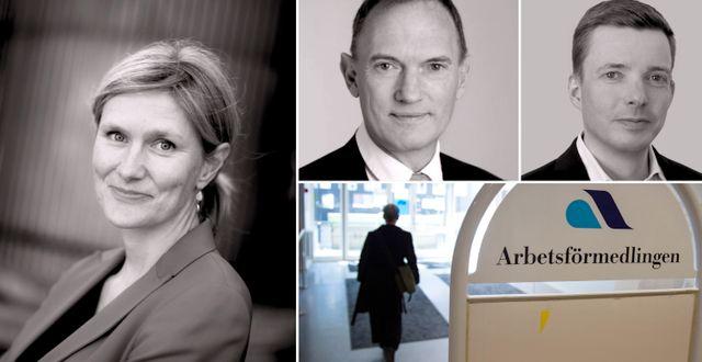 Katarina Lundahl, Knut Hallberg och Anders Bergvall.  Jessica Gow/TT & pressbilder