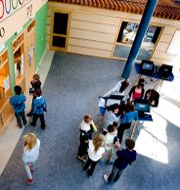 Elever på Internationella Engelska Skolan i Täby. PONTUS LUNDAHL / TT / TT NYHETSBYRÅN