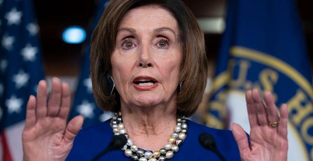 Representanthusets talman Nancy Pelosi, demokrat.  J. Scott Applewhite / TT NYHETSBYRÅN