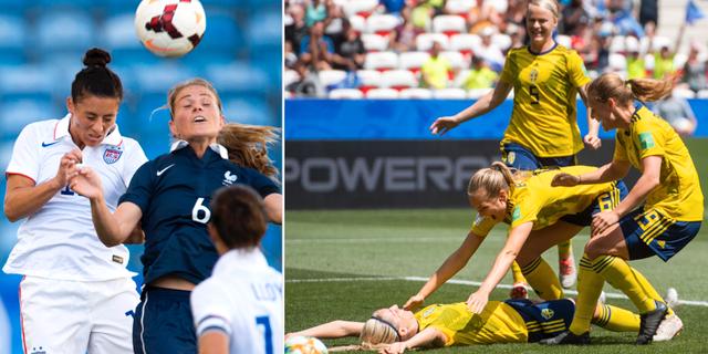 Ali Krieger, arkivbild/Magdalena Eriksson och de andra svenska landslagsspelarna under VM TT