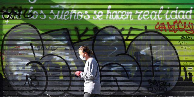 Bild från Madrid. SERGIO PEREZ / TT NYHETSBYRÅN