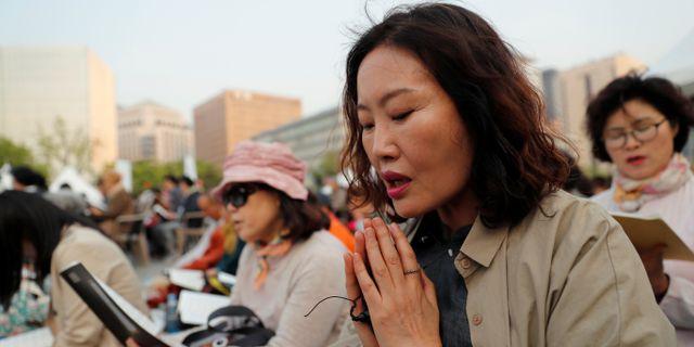 Buddhistkvinna i Sydkorea JORGE SILVA / TT NYHETSBYRÅN