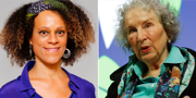 Bernardine Evaristo och Margaret Atwood . TT