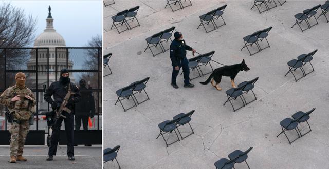 Nationalgardet vaktar i Washington DC.  TT
