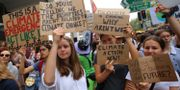 Studenter demonstrerar i Sydney.  STRINGER / TT NYHETSBYRÅN