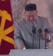 Kim Jong-Un vid talet.