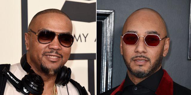 Timbaland och Swizz Beatz. Jordan Strauss / TT NYHETSBYRÅN