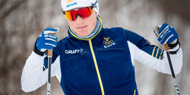 Jens Burman tränar, 3 februari. Christine Olsson/TT / TT NYHETSBYRÅN
