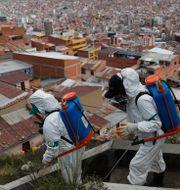 Bolivias huvudstad La Paz. Juan Karita / TT NYHETSBYRÅN