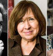 Arkivbilder: Selma Lagerlöf, Doris Lessing, Svetlana Aleksijevitj. TT