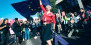 Demonstration mot brittiska EU-utträdet i London.  Yui Mok / TT NYHETSBYRÅN/ NTB Scanpix