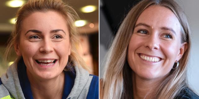 Isabelle Gulldén och Johanna Westberg. Arkivbilder. TT