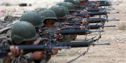 Afghanistans nationalgarde tränas på militäranläggning i Kabul. Rahmat Gul / TT NYHETSBYRÅN/ NTB Scanpix