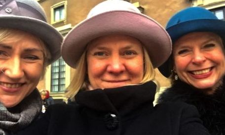 Helene Hellmark Knutsson, Magdalena Andersson och Åsa Regnér.