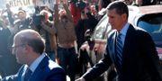 Michael Flynn lämnar domstolen igår. JONATHAN ERNST / TT NYHETSBYRÅN