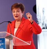 Arkivbild: IMF-chefen Kristalina Georgieva.  YOUSSEF BOUDLAL / TT NYHETSBYRÅN