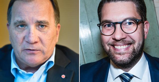 Stefan Löfven (S)/Jimmie Åkesson (SD). TT