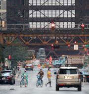 Centrala Chicago på måndagsmorgonen, lokal tid. Charles Rex Arbogast / TT NYHETSBYRÅN