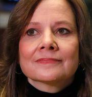 GM-chefen Mary Barra intervjuas på NYSE om batterifabriken i Ohio i januari 2019. Richard Drew / TT NYHETSBYRÅN
