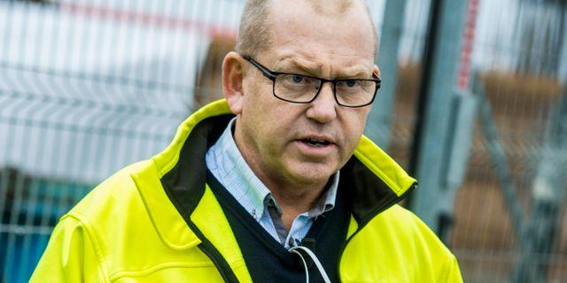 Byggnads ordförande Johan Lindholm Claudio Bresciani / TT / TT NYHETSBYRÅN
