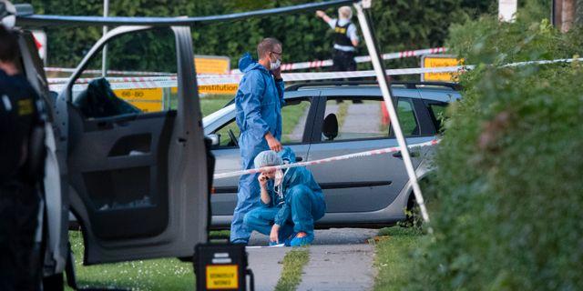 En man har anhållits efter dubbelmorden. Johan Nilsson/TT / TT NYHETSBYRÅN