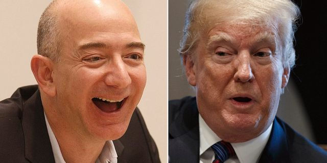 Bezos och Trump. TT
