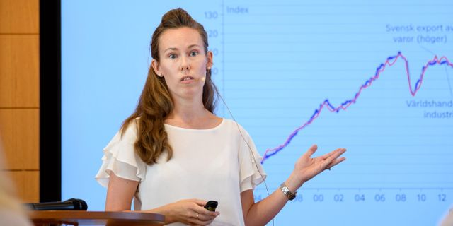 Susanne Spector, senior analytiker, är en av rapportens författare. Jessica Gow/TT / TT NYHETSBYRÅN