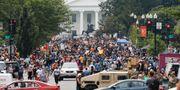Demonstrationer utanför Vita huset.  Jacquelyn Martin / TT NYHETSBYRÅN